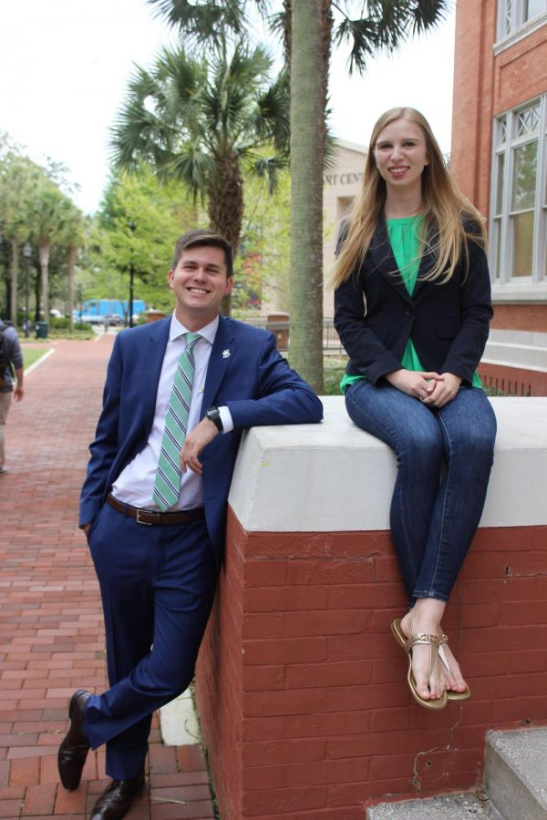 George+Alderman+and+Hannah+Weary%2C+candidates+for+SGA+President+and+Vice+President+for+the+2019-2010+academic+year.