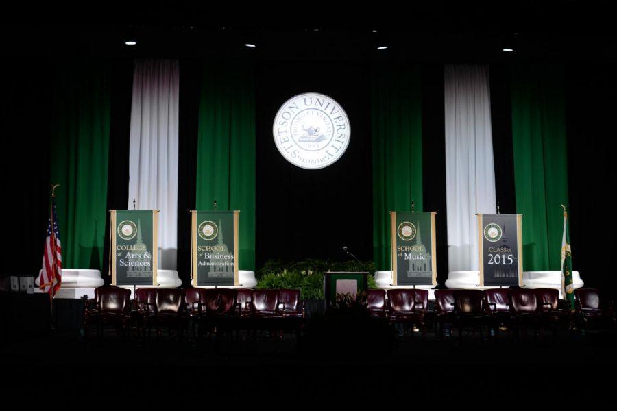 Commencement 2015 held inside of the Edmunds Center. Photo/Stetson University