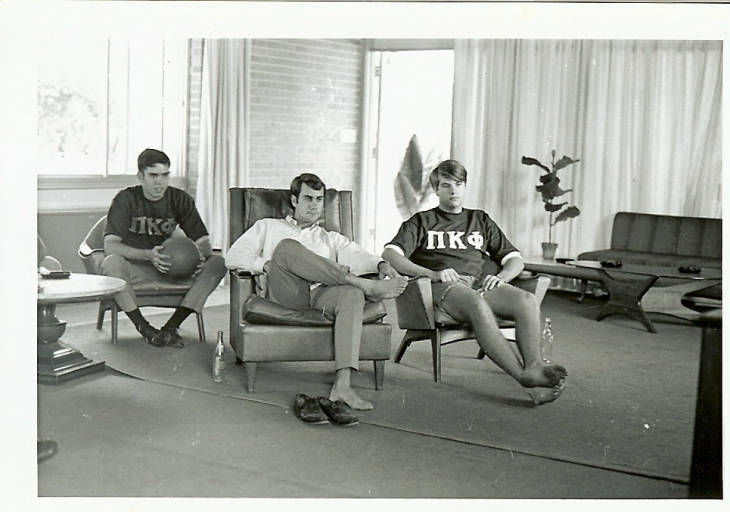 Pi+Kappa+Phi+members+hanging+out+in+their+house+%281968%29.+Photo+by+Stetson+Archives.