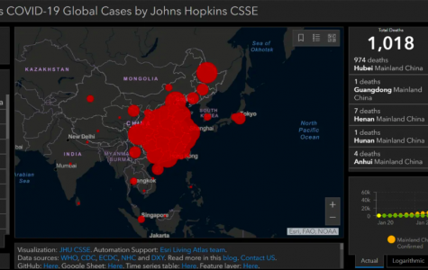 A map tracking the Coronavirus worldwide, courtesy of Johns Hopkins University. Florida has had two deaths as a result of the Coronavirus. In Volusia County, the first case showing Coronavirus symptoms and is now quarantined was announced yesterday by Florida Health.