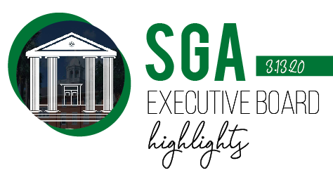 SGA Executive Board Highlights – 3/13