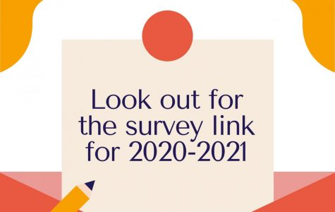 Look Out for Survey Link for 2020-2021