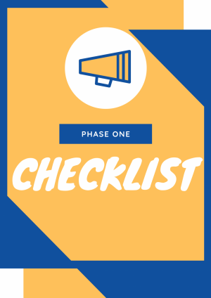 Phase One Checklist