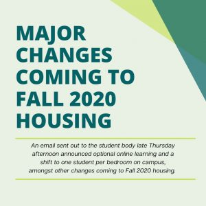 Major Changes Coming to Fall 2020 Housing