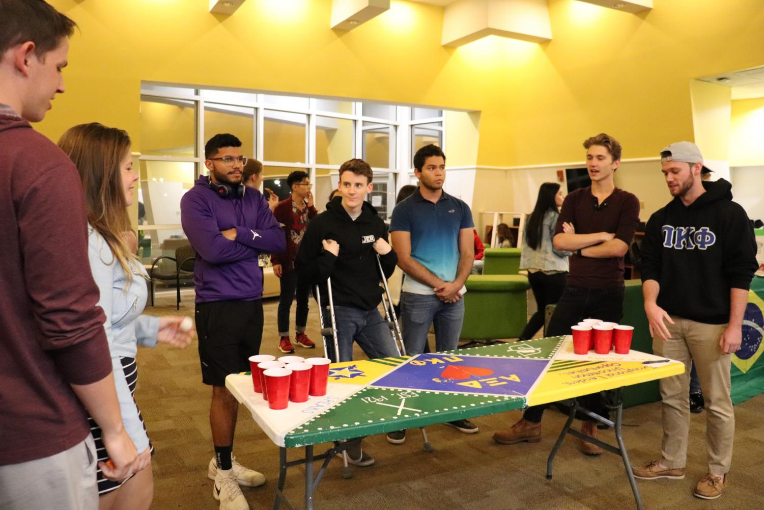 Water+pong+at+the+International+Game+Tournament.