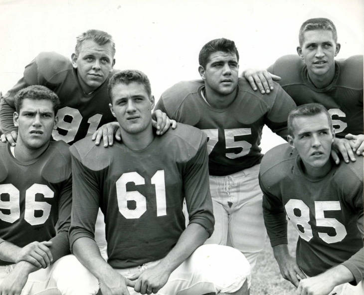 Members+of+the+1956+football+team+pose+for+a+picture.+This+was+the+last+year+the+football+team+was+active+until+its+revival+in+2013.+Photo+courtesy+of+Stetson+Archives.