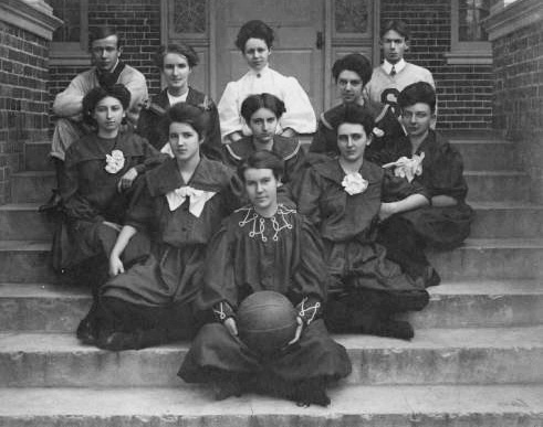 Stetson women's basketball, shown here in 1906. It's the oldest female sports team on campus, founded only six years after the men's team in 1900. Photo courtesy of Stetson Archives.