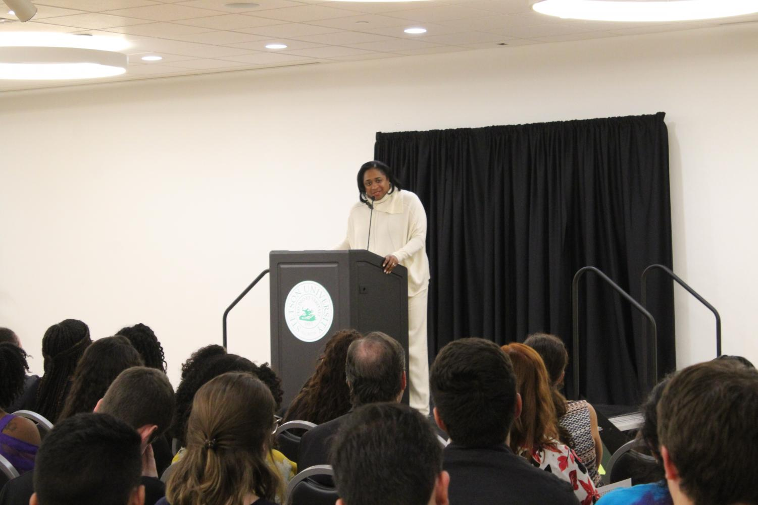 Bonisha Townsend-Porter speaking of Stetson's diversity at MLK: Life & Legacy - The Power of Now.