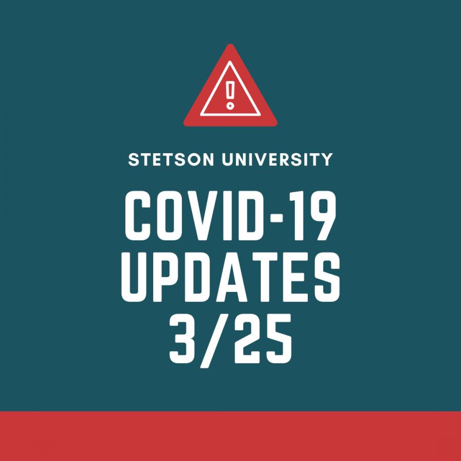 Stetson COVID-19 Updates – 3/25