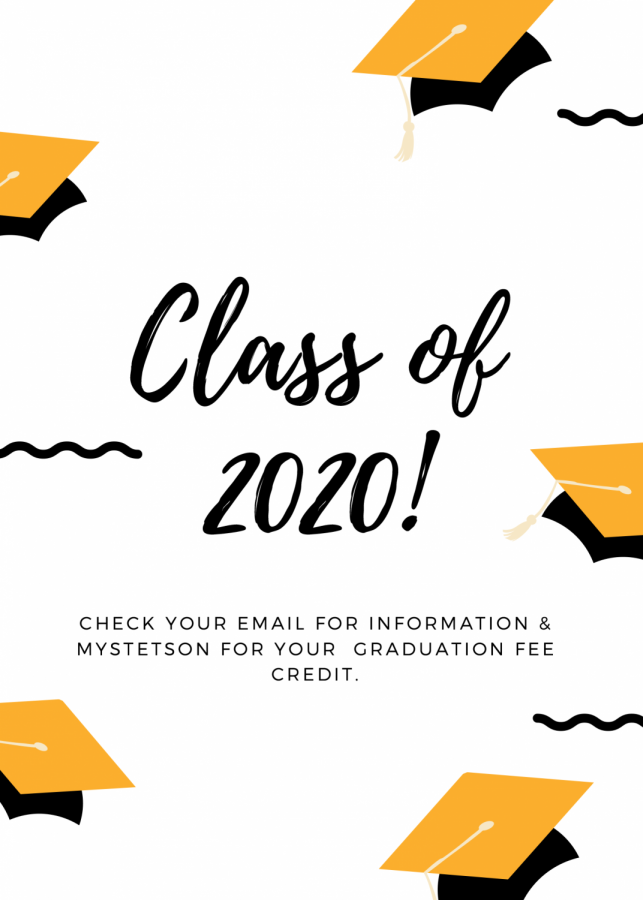 Black and Yellow Hat Graduation Announcement