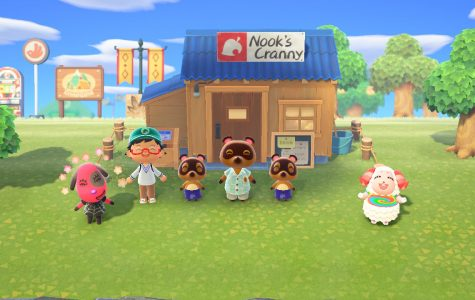 Celebrating the opening of Nook's Cranny. Credit: Nintendo.