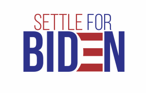 Popular image shared across Twitter urging voters to settle for Biden.