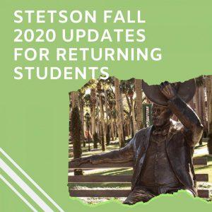 Stetson Fall 2020 Updates