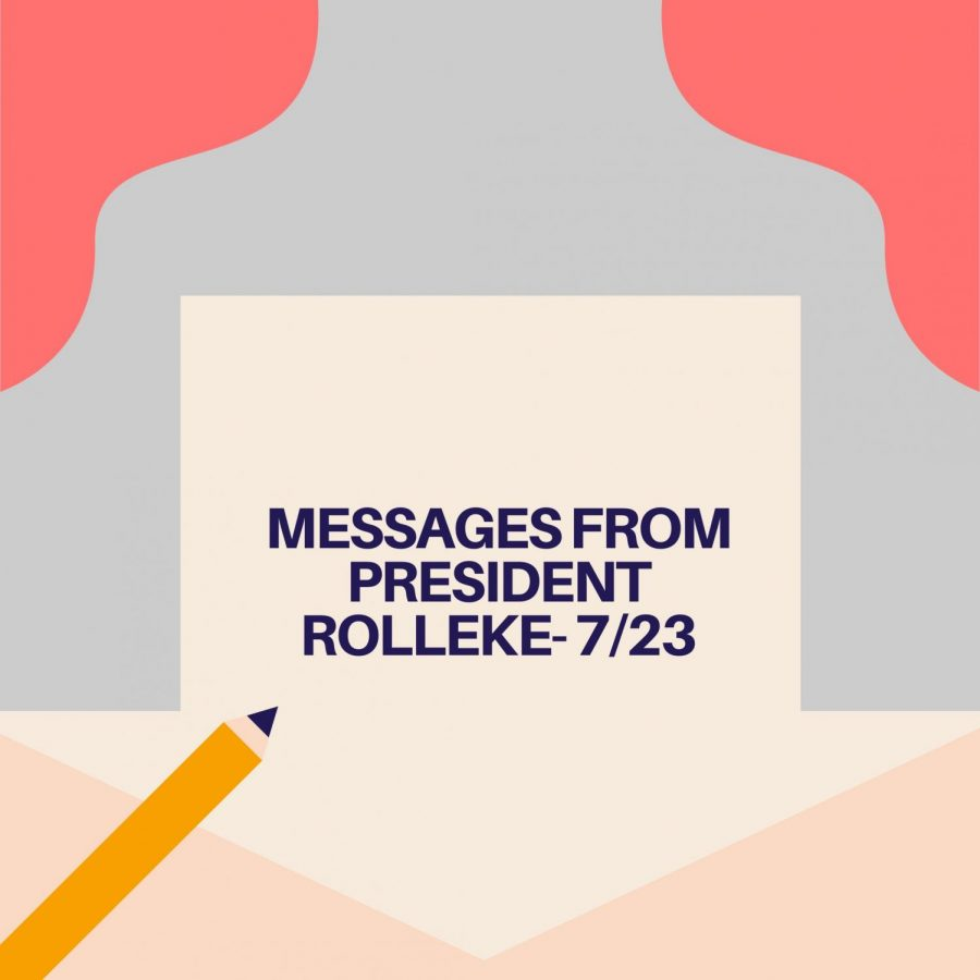 Messages from President Roellke - 7/23
