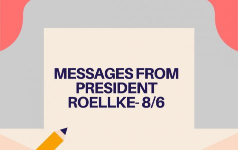 Messages from President Roellke - 8/6