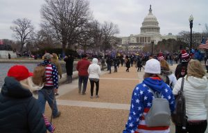 The insurrection at the Capitol. Photo courtesy of Tyler Merbler via Flickr.